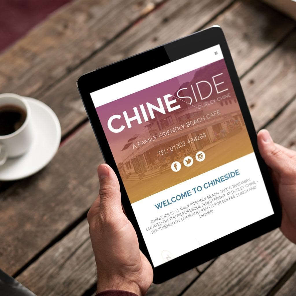Chineside website on a tablet