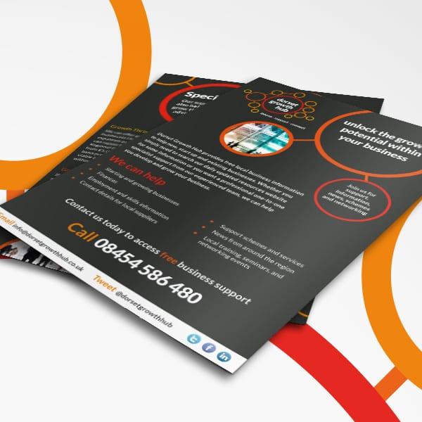 Dorset Growth Hub Leaflet Design