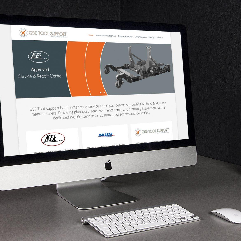 aerospace gse website on an iMac