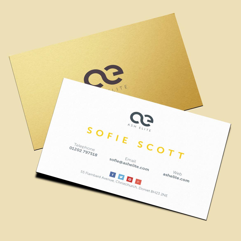 ash elite business card design