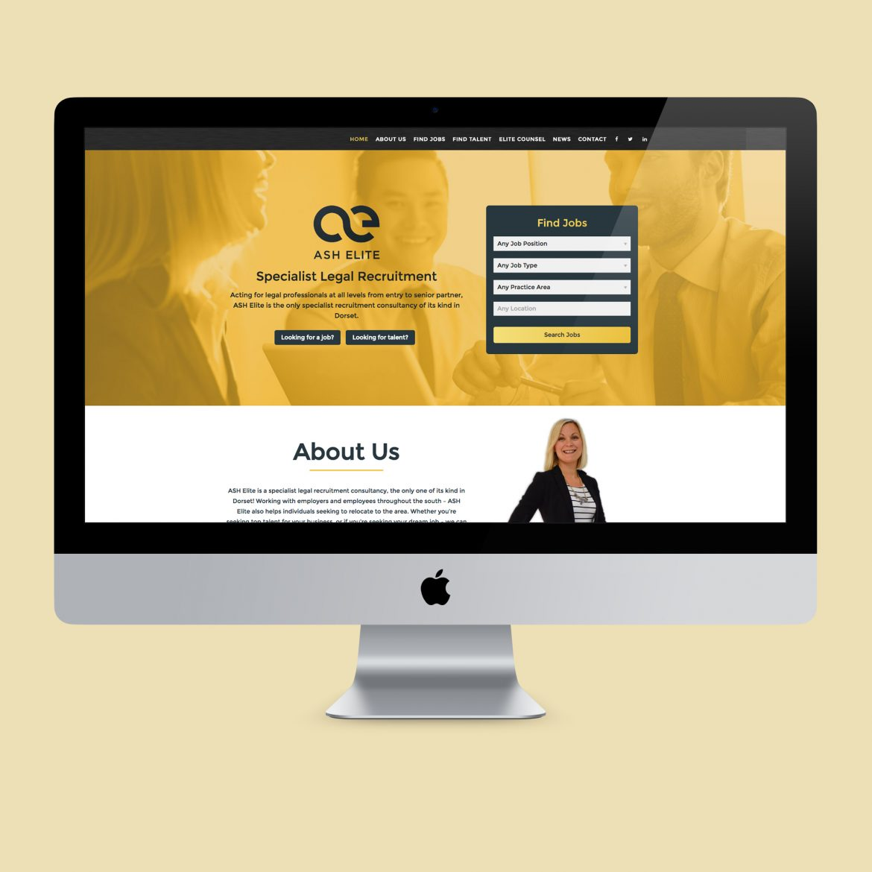 ash elite recruitment website design