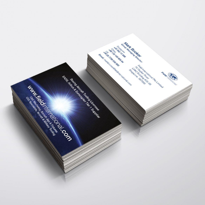 Field International Business Card Design
