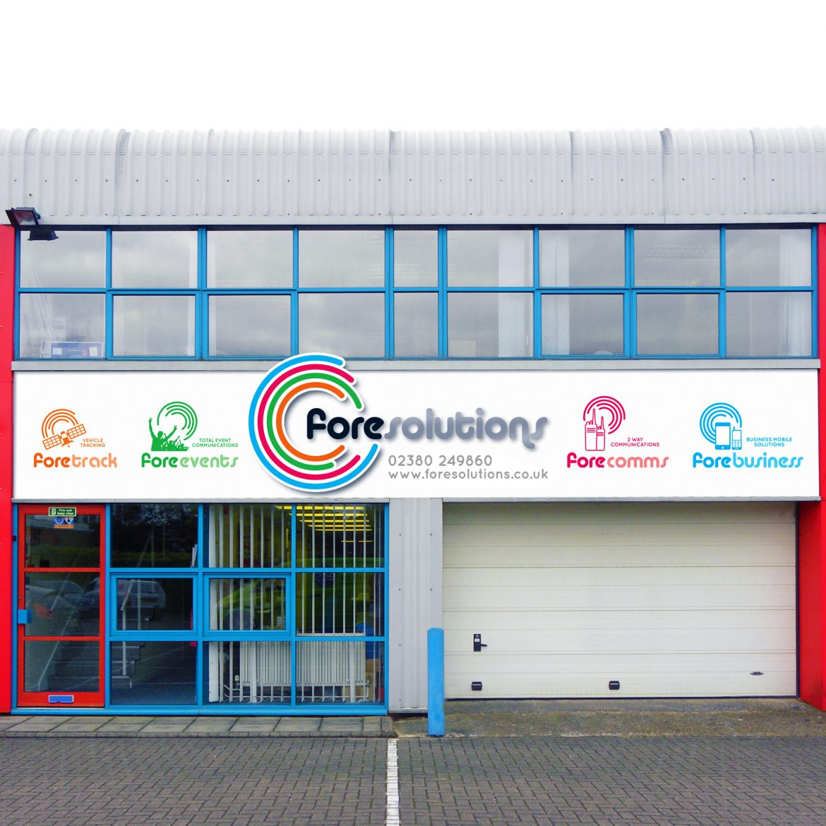 fore solutions signage on their workshop