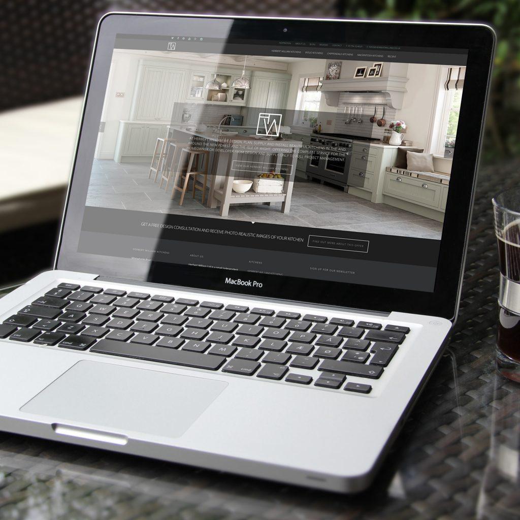 Herbert William website on a MacBook