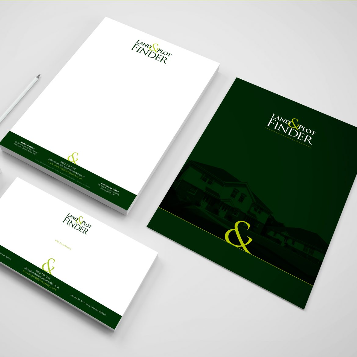 land & plot finder stationary design