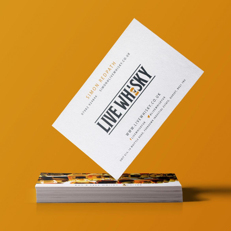 live whisky business cards design