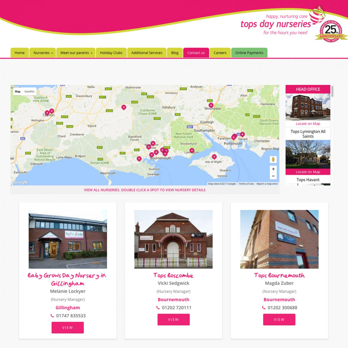 tops day nursery website