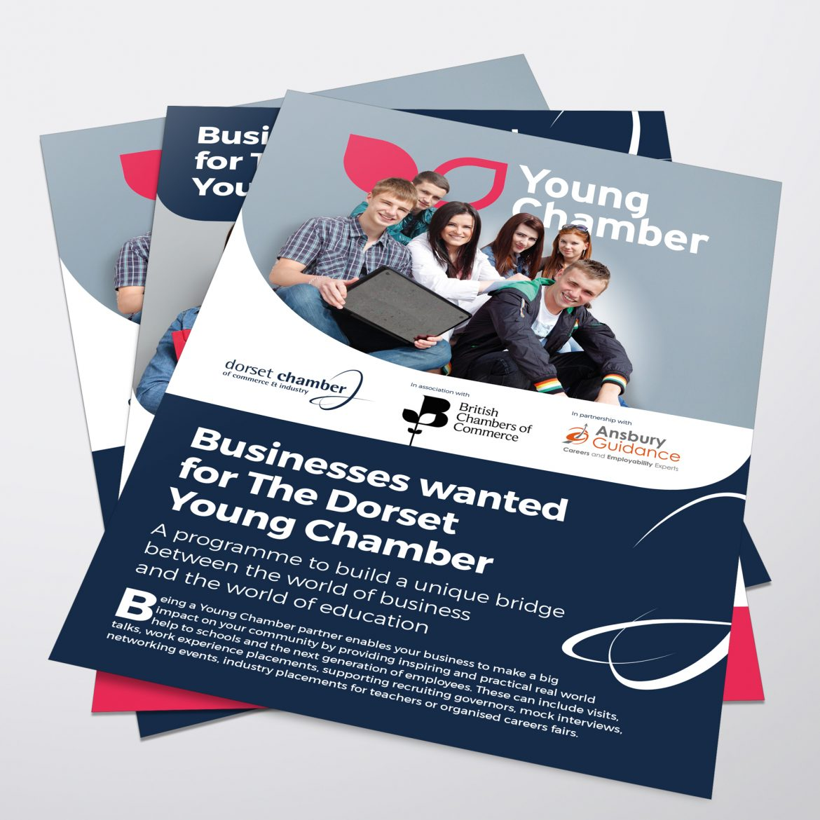 young chamber leaflet design