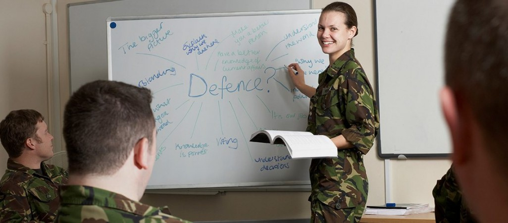 Army teaching classes and workshops