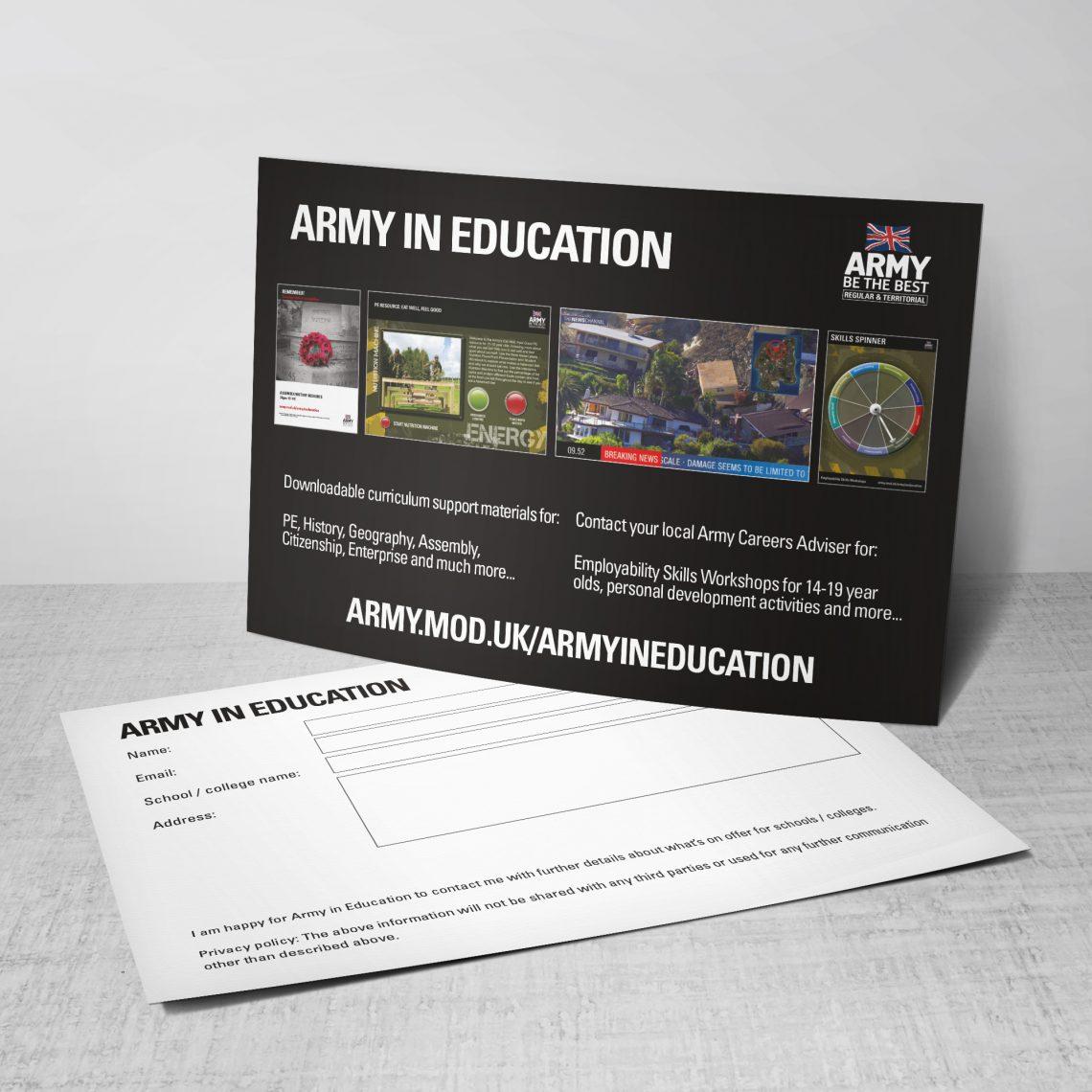 Army Postcard Design