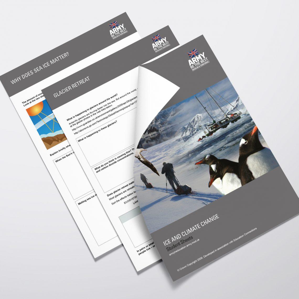 Army in Education brochure design