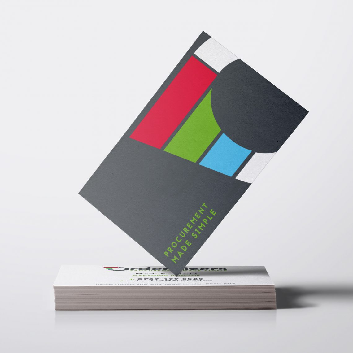 ordernizers business card design