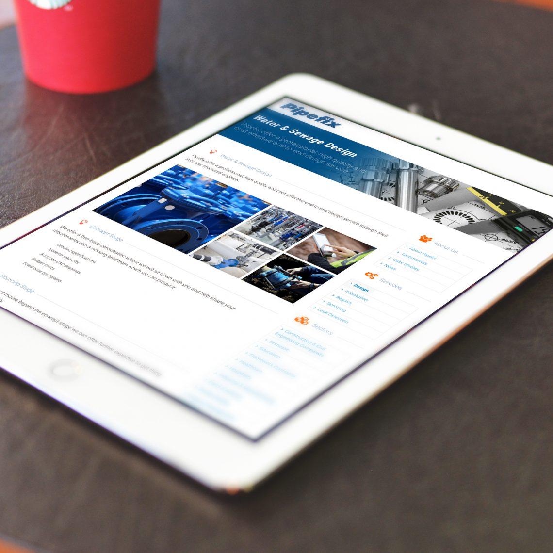 pipefix tablet responsive website design