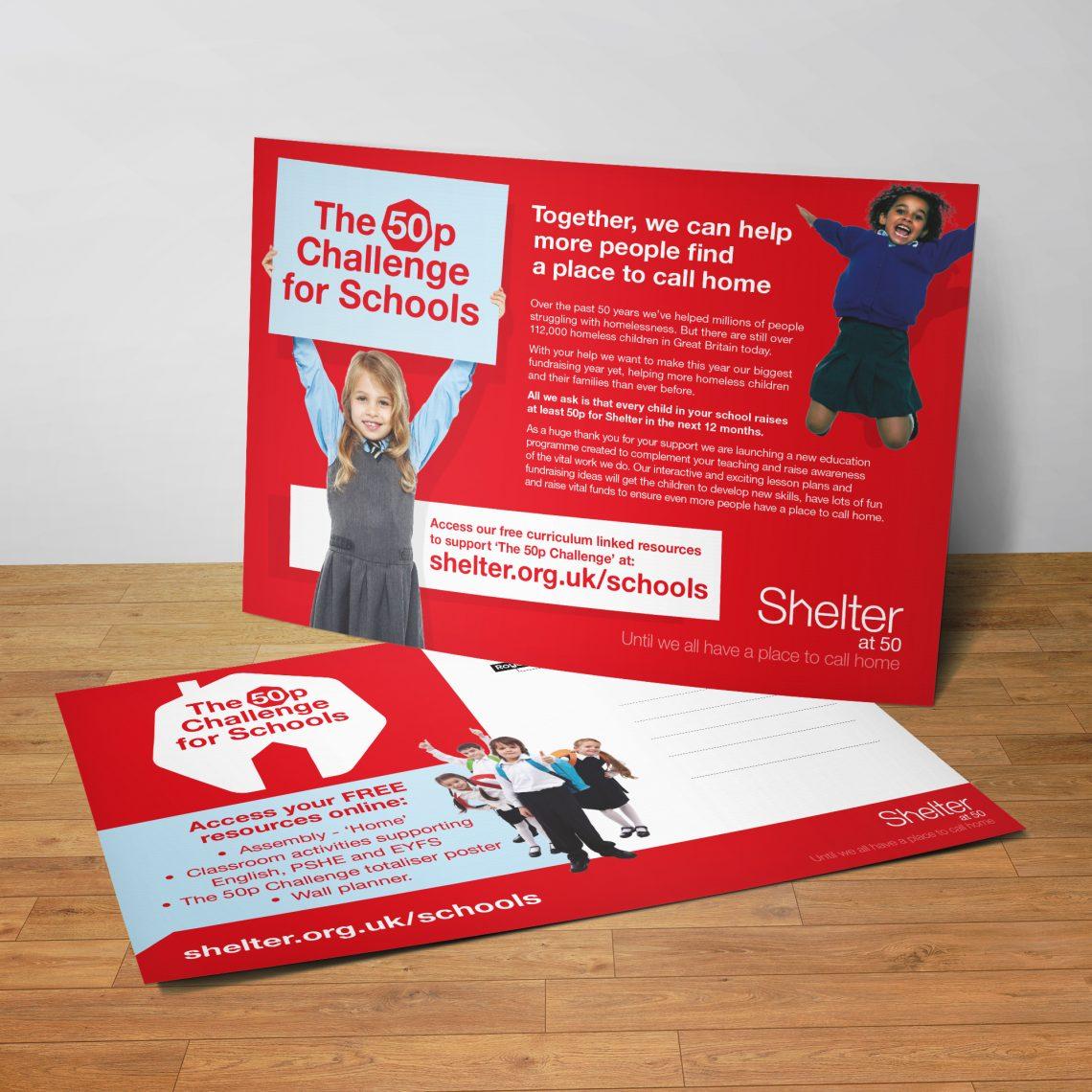 Shelter postcard design