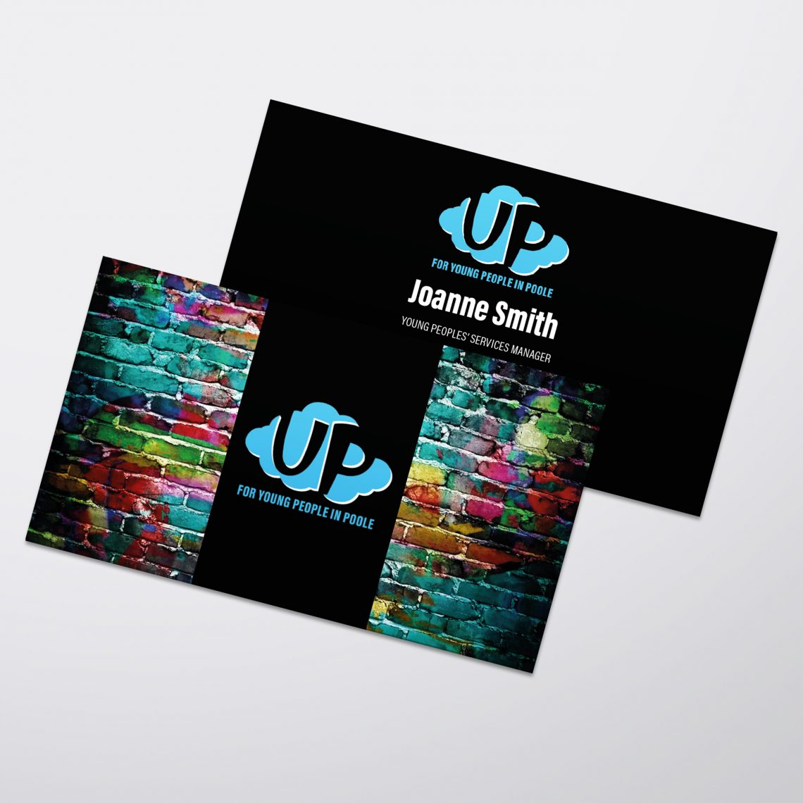 up poole business card design