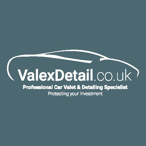 white valex detail logo