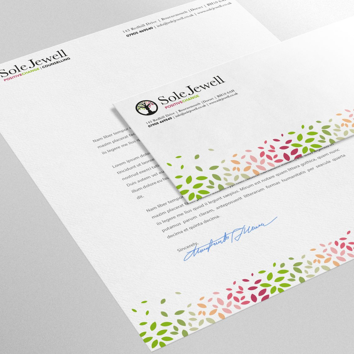Sole Jewell stationary designs