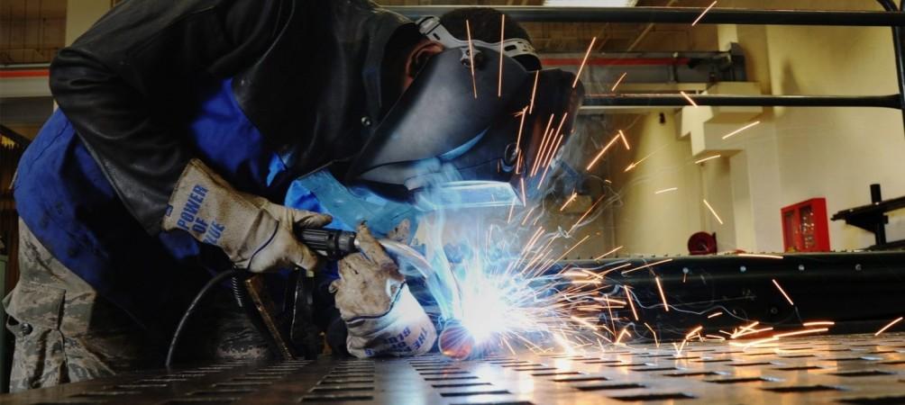 Corhaven employee doing fabrications