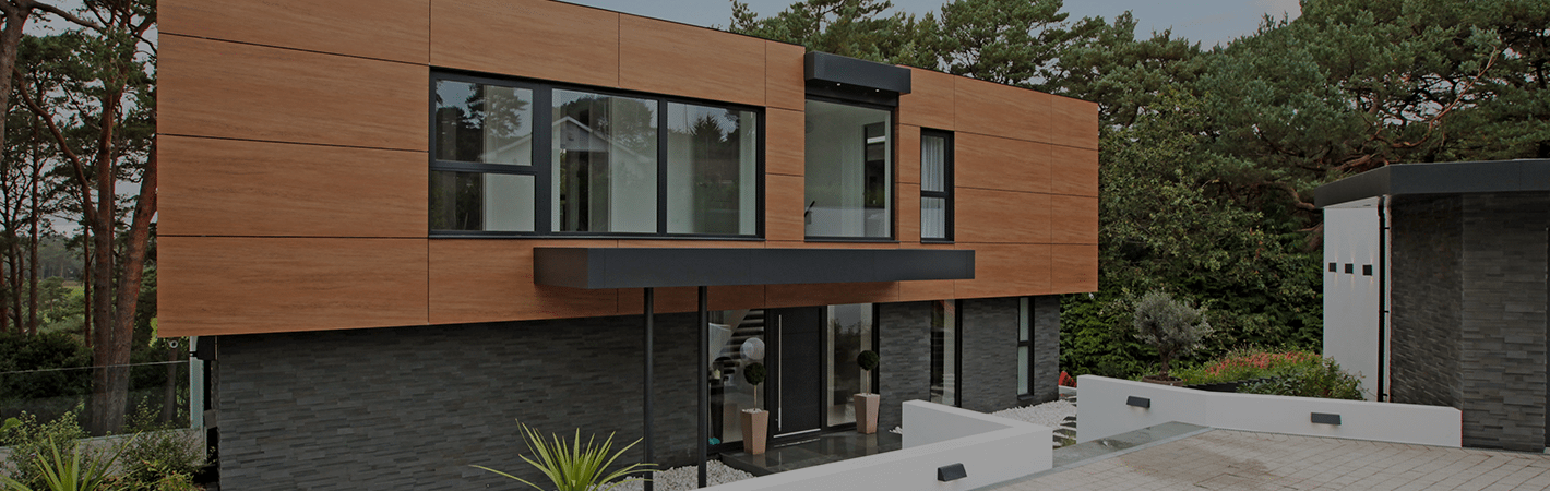 brick clad cladding on a luxury home