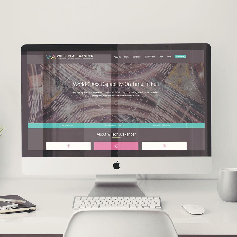 Wilson Alexander website on iMac