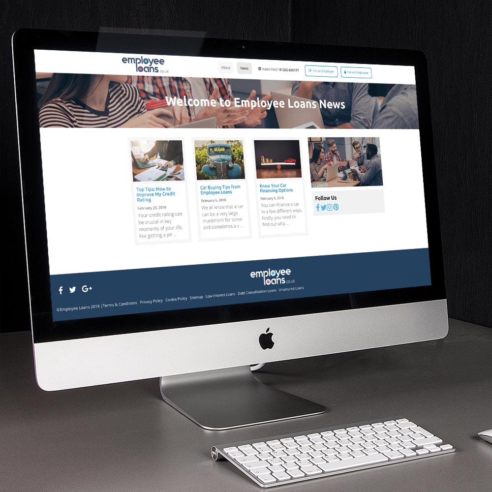 news page web design