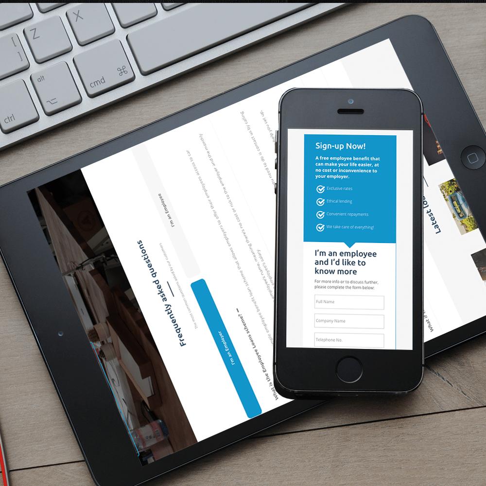 employee loans mobile tablet web development
