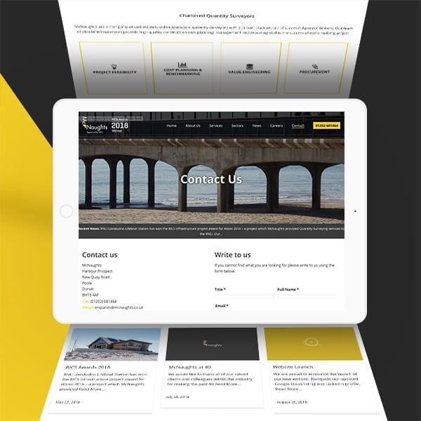 McNaughts iPad website design