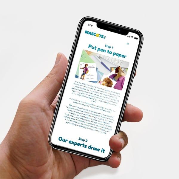 mascots mobile responsive website