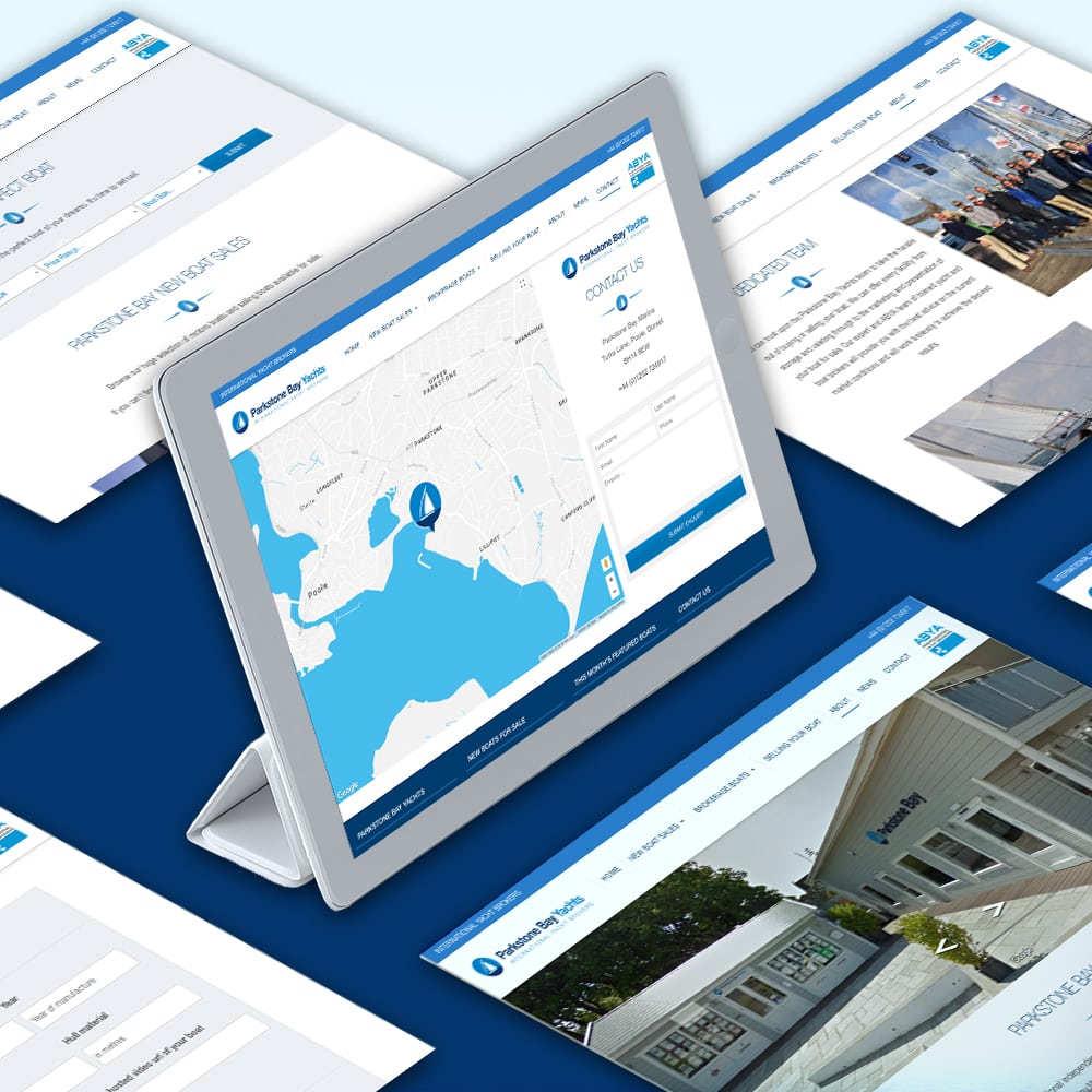 Parkstone Bay Yachts iPad Web Design