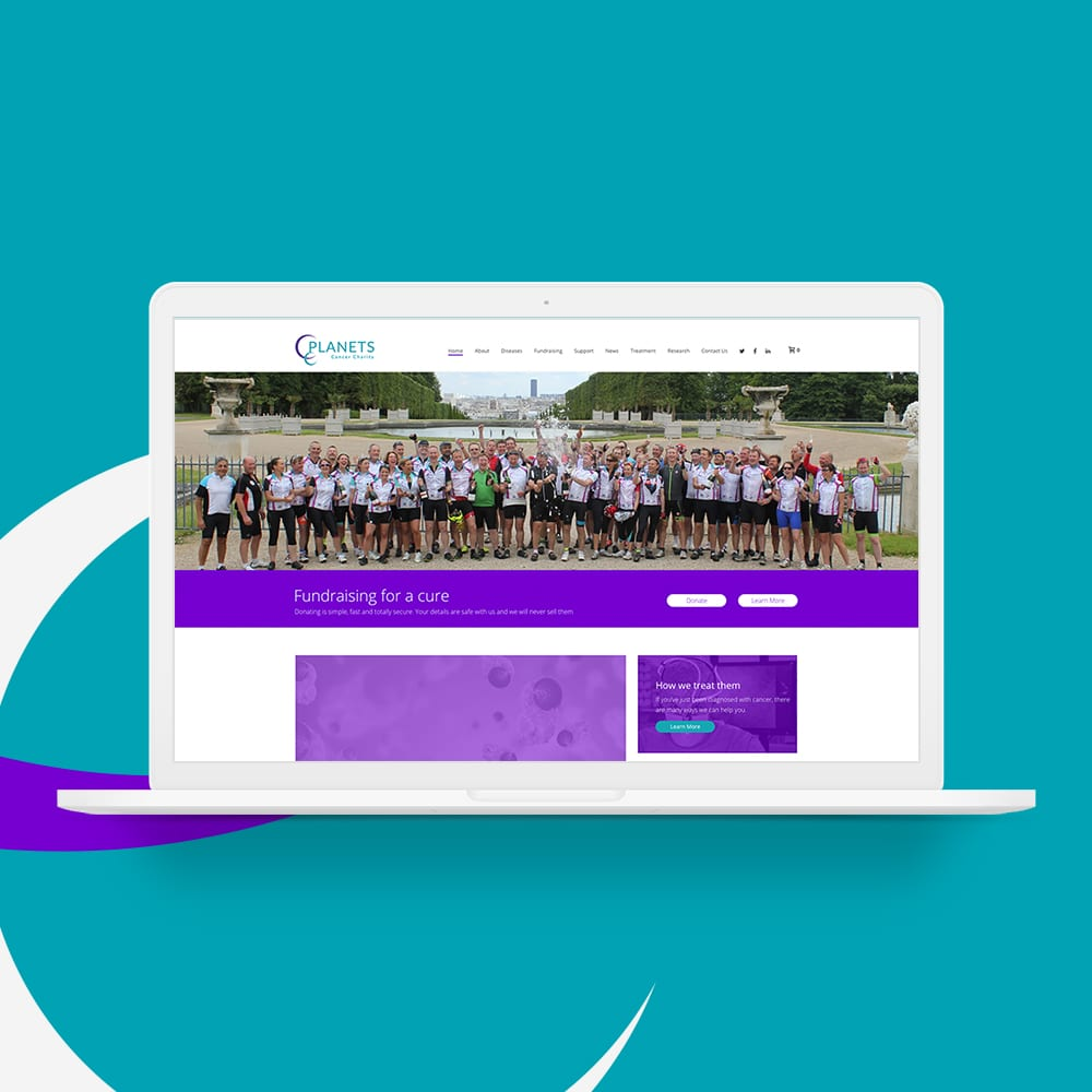 Planets Charity Website Design