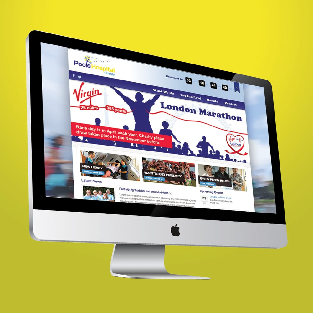 Poole Hospital Charity Website Design