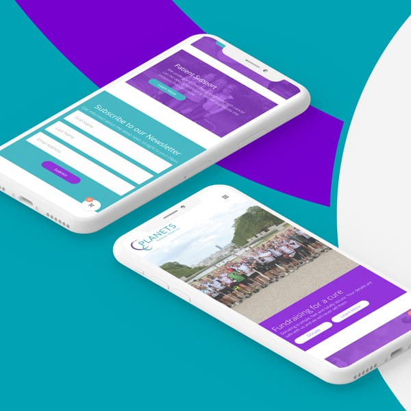 Planets Charity Mobile Website Design