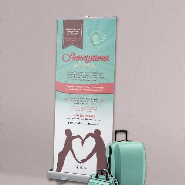 Select World Travel Display Advert Design