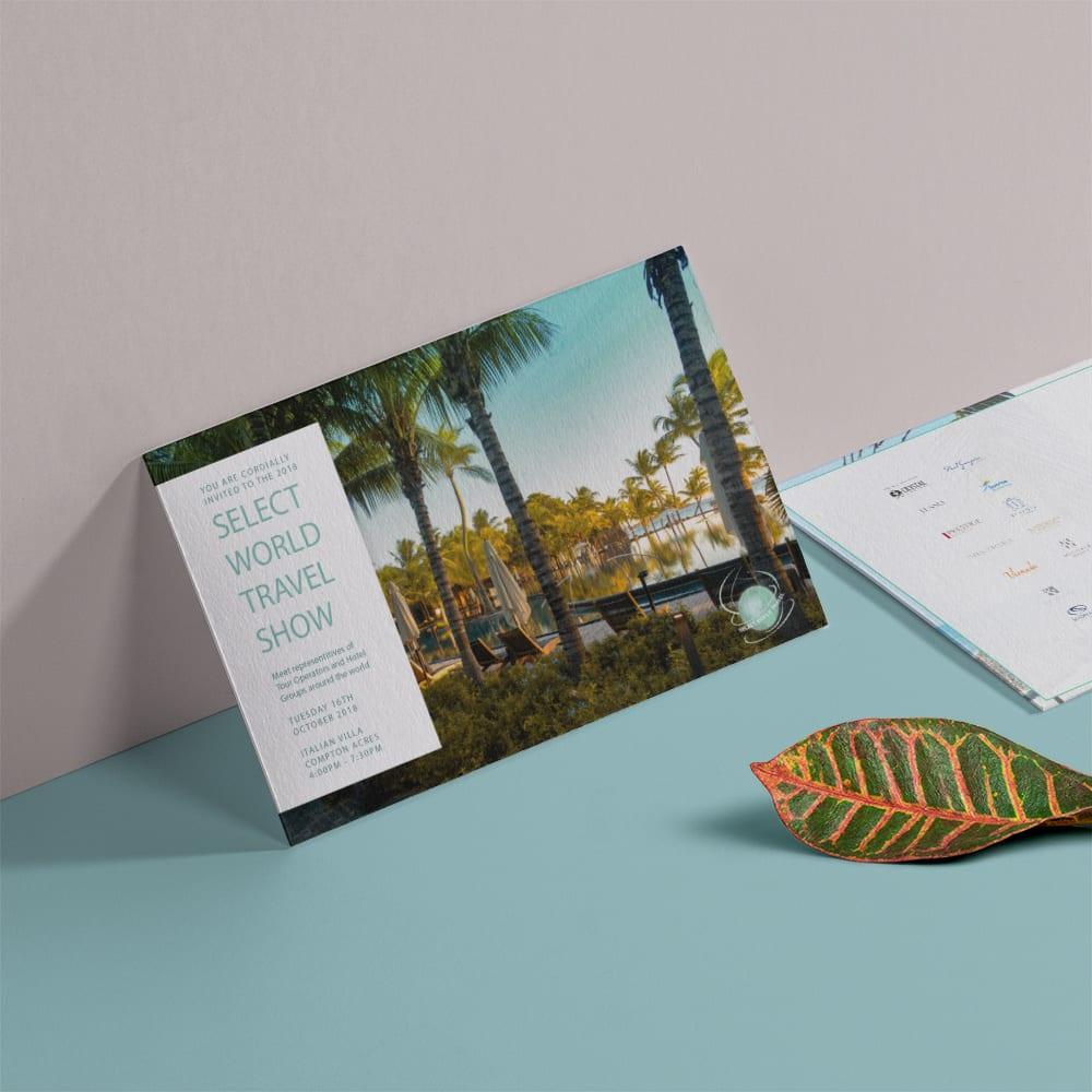 Select World Travel Leaflet Design