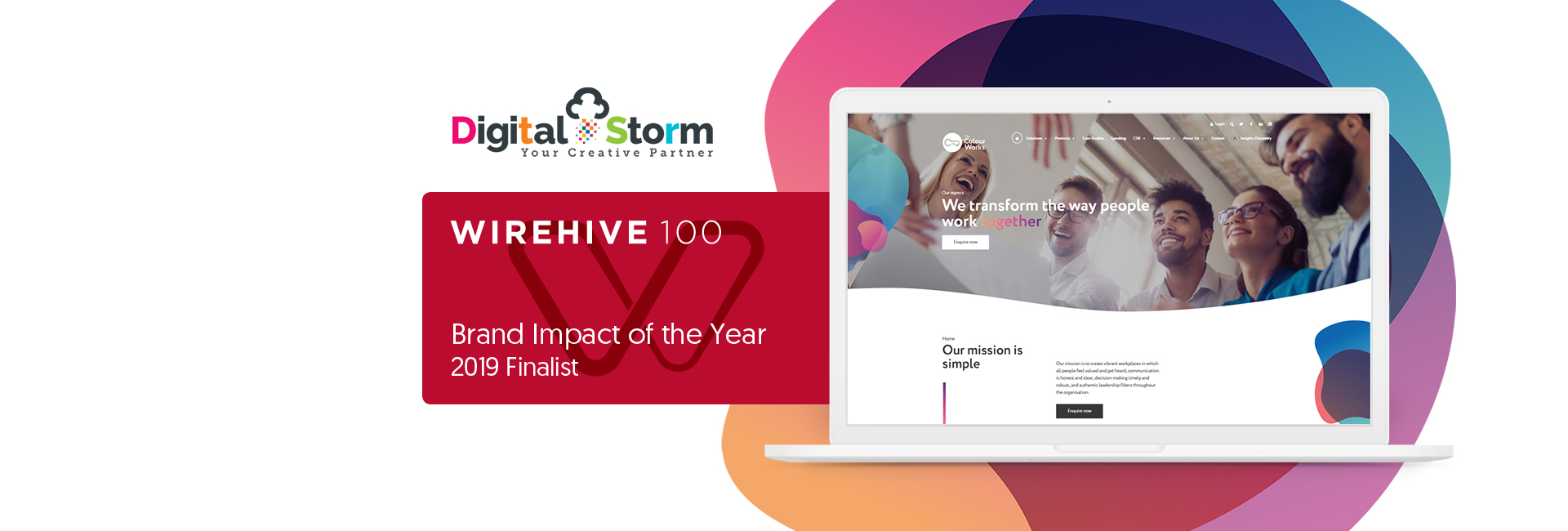 Digital Storm make finalists for Wirehive's Brand Impact of the Year 2019