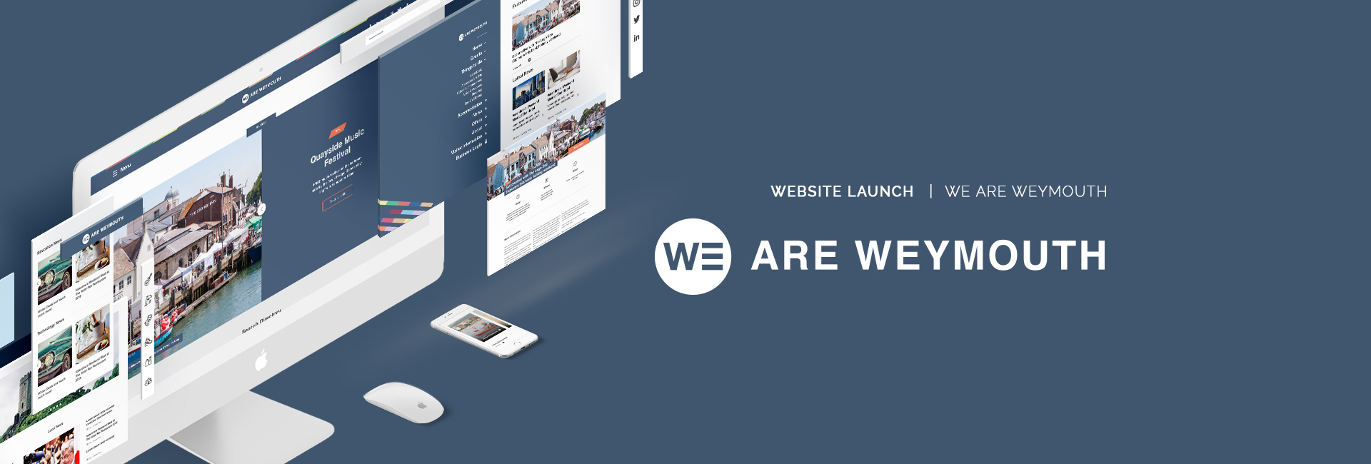 Digital Storm launch the brand new We are Weymouth tourist information website.