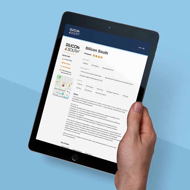 person shopping on true utility ecommerce store on an iPad