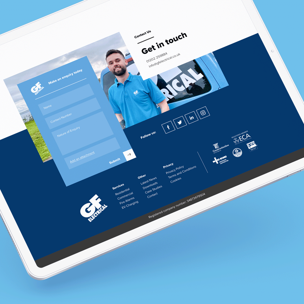 Ordernizerswebsite on an iPad